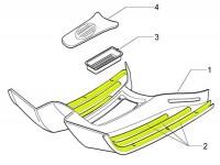 Fascia battistrada set -PIAGGIO- Vespa GT, GTL, GTS 125-300, GTV - nero