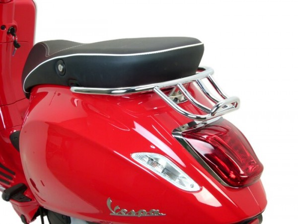 Gepäckträger hinten -MOTO NOSTRA, mit Soziushaltegriff- Vespa Primavera 50 (ZAPC53100, ZAPC53200), Vespa Primavera 125 (ZAPM81100), Vespa Primavera 150 (ZAPM81200), Vespa Sprint 50 (ZAPC53101, ZAPC53201), Vespa Sprint 125 (RP8M82111, ZAPM81300, Z