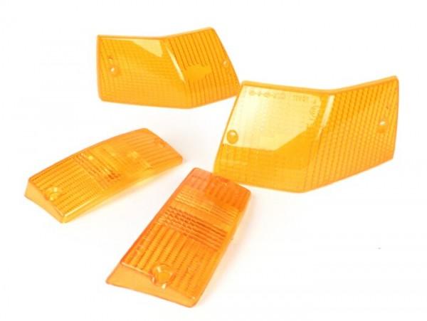 Blinkergläser -SIEM 4er Set- Vespa PX80, PX125, PX150, PX200, T5 125cc - Orange