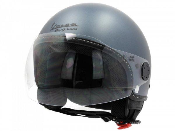 Helmet -VESPA jet helmet Sei Giorni - grey - L (59-60 cm)