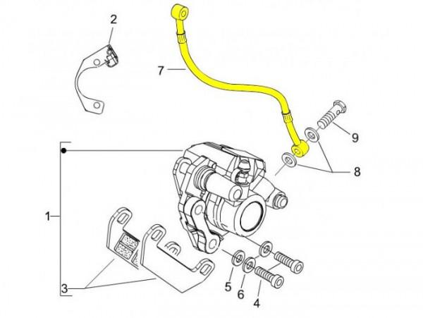 Bremsleitung vorne -PIAGGIO- Vespa LX 50 (ZAPC381, ZAPC383, ZAPC387), LX 125 (ZAPM441, ZAPM443, ZAPM681, ZAPM683), LX 150 (ZAPM442, ZAPM444)