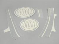 Aufkleber Set -VESPA Super 300- Vespa GTS -