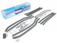 Complete footboard strip set incl. end caps and mounting material  -CASA LAMBRETTA- LI (series 1-2), TV (series 2) - grey