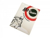 "Reklameschild -RETRO- Blech ""Go Vespa - Low centre of gravity"""