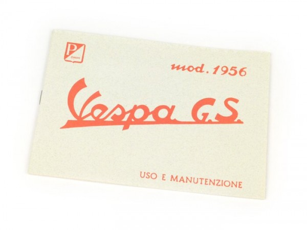 Owner's manual -VESPA- Vespa GS 150 (1956)