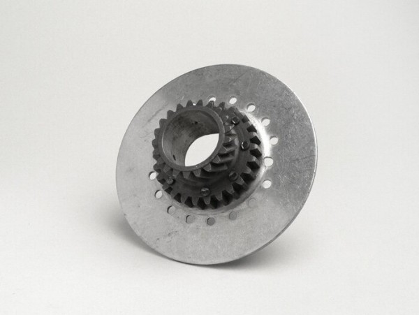Clutch sprocket -OEM QUALITY, Vespa type 7 springs for genuine primary gear (helical) 67/68 tooth - 21 tooth (originally used for Cosa125, Cosa200)