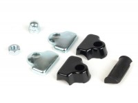 Kit fissaggio specchietto a bordoscudo -BUMM- plastica nera