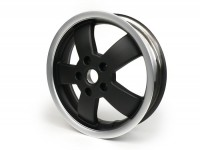 Wheel rim -PIAGGIO 3.00-12 inch- Vespa GT, GTL, GTS 125-300, GTV - without ABS - black mat/polished