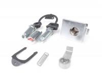 Glove box lock set -ZADI- Vespa PX EFL (1984-), T5 125cc - chrome - 3 lock cylinder (ignition, glove box, seat)
