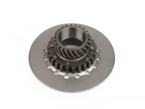 Kupplungsritzel -DRT Vespa Typ 6-Federn (Ø108mm, PX80, PX125, PX150)- für originales Primärrad (schrägverzahnt) 67/68 Zähne oder DRT 65 Zähne - 23 Zähne