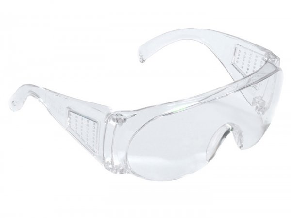 Safety glasses -3M safety glasses Visitor- EN 166, polycarbonate lens, light, comfortable, frame/temples: clear, (also suitable as over-glasses)