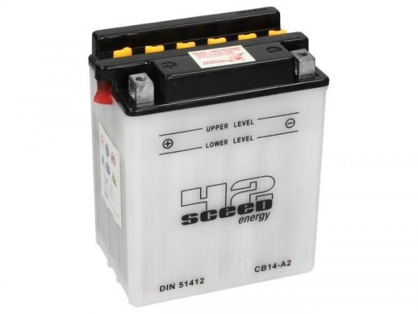 Batterie -Standard SCEED 42 Energy- CB14-A2 - 12V, 14Ah - 135x91x167mm (inkl. Säurepack)