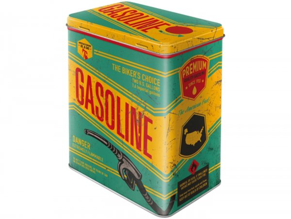 "Tea box -Nostalgic Art- ""Gasoline"", 10 x 14 x 20cm"