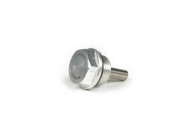 Tornillo purgador de aceite aluminio -MB-DEVELOPMENTS- Lambretta LI, LIS, SX, TV (Serie 2-3), DL, GP, J, Lui - con iman y junta