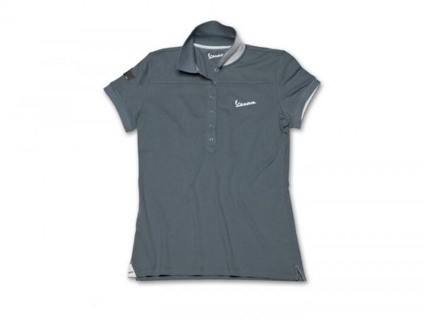 Polo-Shirt Damen -VESPA- grau - S