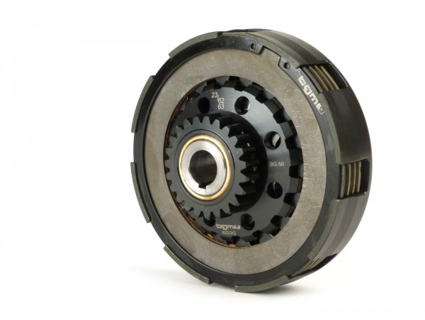 Clutch -BGM Pro Superstrong CNC, type Cosa2/FL- for primary gear 62/63 tooth (straight) - Vespa PX, Cosa, T5, Sprint150 Veloce, Rally, GTR, TS125, Super150 (VBC) - 23 teeth