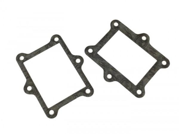 Gasket set for reed valve intake -QUATTRINI M200- Vespa V50, PV125, ET3, PK50, PK80, PK125