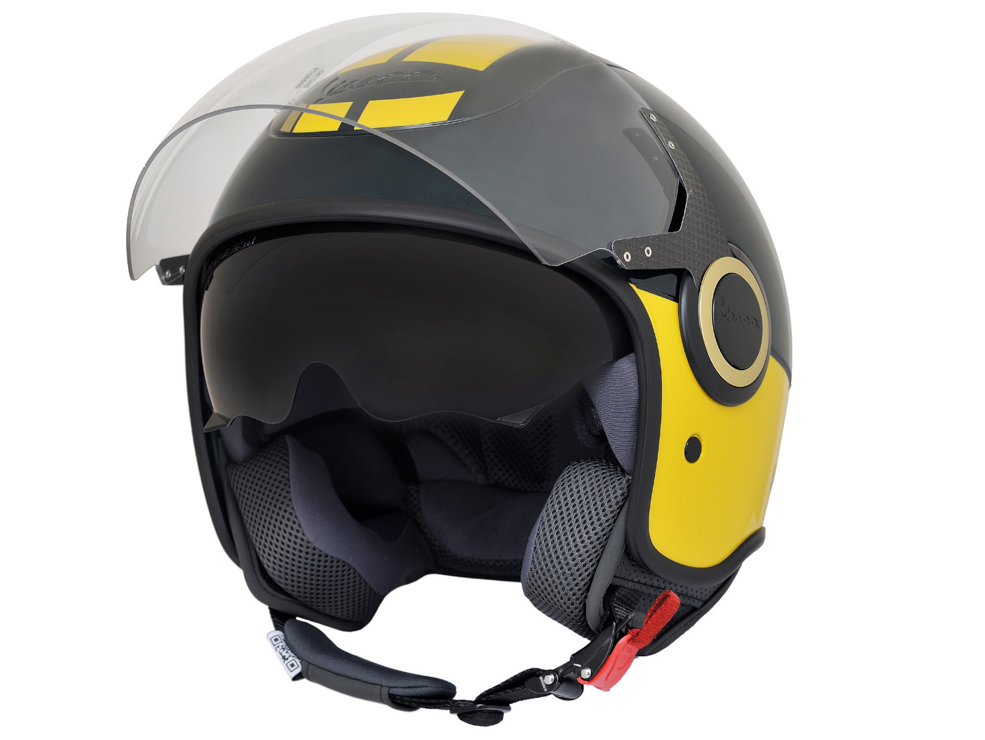Helmet Vespa Open Face Helmet Vj Racing Sixties Green Yellow S 55 56 Cm Helmets Helmets Scooter Center