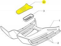 Fußmatte Durchstieg  -PIAGGIO- Vespa GT (ZAPM31), Vespa GTL (ZAPM31), Vespa GTS (ZAPM31, ZAPM45), Vespa GTV (ZAPM31, ZAPM45)