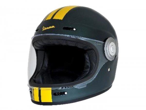 Helm -VESPA Integralhelm- Racing Sixties- grün gelb- L (59-60 cm)