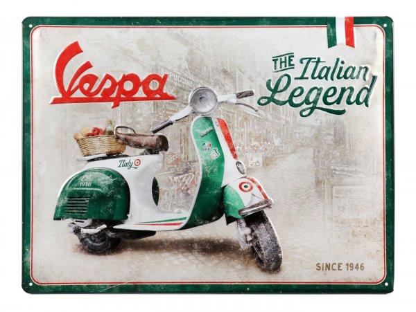 "Advertising sign -Nostalgic Art- Vespa ""Italian Legend"", 30x40cm"