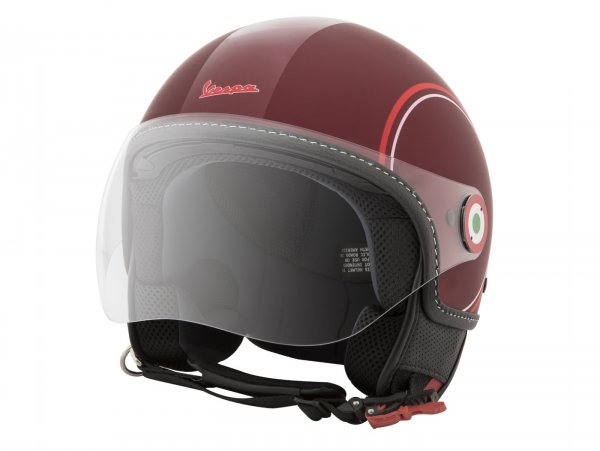Helmet -VESPA  open face helmet Modernist- ABS-  red white-  L (59-60cm)