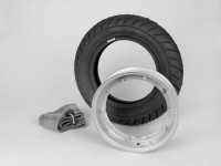 Wheel -VESPA MICHELIN S1- 3.50 - 10 inch TL/TT 51J - wheel rim 2.10-10 grey