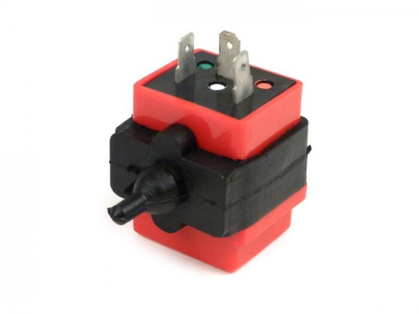 Indicator flasher relay -OEM QUALITY 3-PIN 12V 10/21W AC- Vespa PK S, PK XL, PK XL2, PX EFL (1984-), Cosa, Cosa FL, T5 125cc, APE