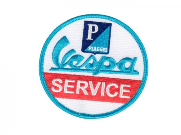 Patch thermocollant -VESPA Service- bleu/rouge/blanc - Ø=79mm