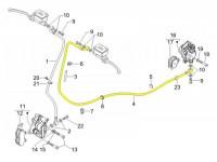 Durite de frein arrière -PIAGGIO- Vespa GT 125 (ZAPM311), GT 200 (ZAPM312), GT L 125 (ZAPM311), GT L 200 (ZAPM312), GTS 125 (ZAPM313)