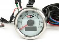 Tacho/Drehzahlmesser -SIP 2.0 (KOSO)- 140 (km/h/mph), 14000U/min - Vespa V50 Ø=48mm -