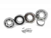 Ball bearing set for engine -SCOOTER CENTER- Vespa Largeframe T5 125cc (VNX5T) - fits also engine casing Malossi VR-One, Pinasco PX/T5