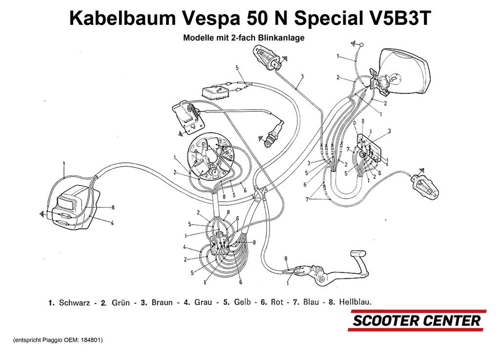 kabelbaum bgm pro vespa v50 special v5b3t modelle. Black Bedroom Furniture Sets. Home Design Ideas