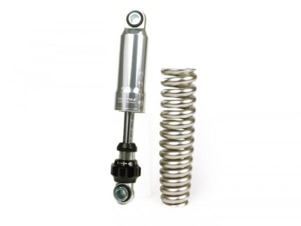 Front shock absorber set -BGM PRO SC F16 SPORT- Vespa Rally180 (VSD1T), Rally200 (VSE1T), Sprint150 (VLB1T), GT125 (VNL2T), GTR125 (VNL2T), TS125 (VNL3T), GS150 / GS3, Super, VNA, VNB, VBA, VBB, GL150 (VLA1T) - silver