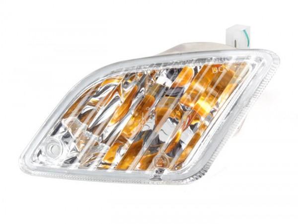 Intermitente -PIAGGIO- Vespa GT, GTL, GTV, GTS 125-300 (-2013) - incoloro - cristal sin estriados - trasero derecho