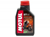 Aceite -MOTUL Scooter Power 2T- 2 tiempos totalmente sintético - 1000ml -  Injection / Purejet / Di-Tech