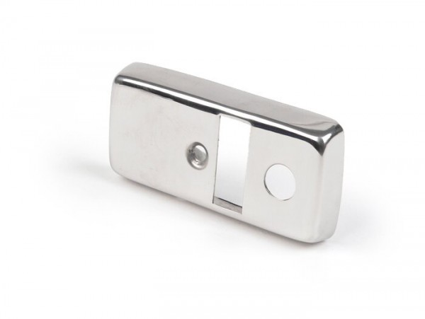 Light switch cover -VESPA- PX80, PX125, PX150, PX200 (1978-1983) - stainless steel