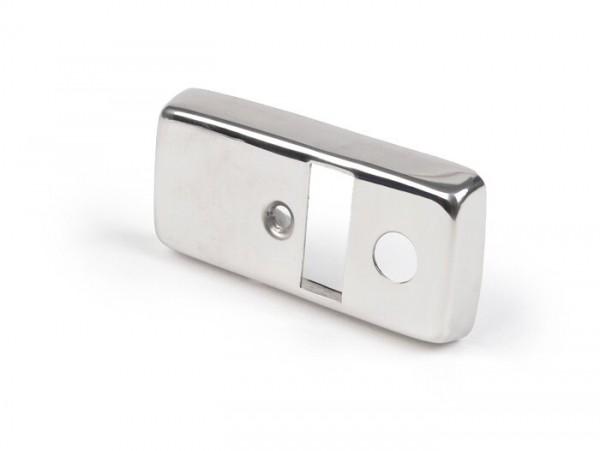 Tapa llave de luces -VESPA- Vespa PX80, PX125, PX150, PX200 (1978-1983) - acero inoxidable