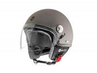 Helmet -HELMO MILANO- Demi jet, Eos, rubber anthracite - M (57cm)