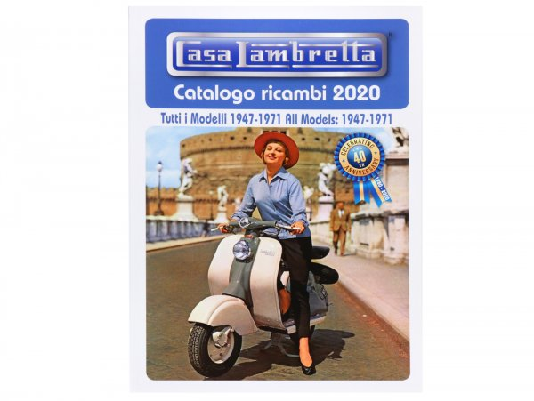 Catálogo online -CASA LAMBRETTA- Spare Parts Catalogue 2020 - 400 páginas - LI, TV, LIS, SX, DL, JUNIOR, LUI