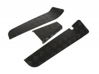 Riffelblech Aluminium -BGM PRO- Vespa PX,  pulverbeschichtet - schwarz - 3-teilig