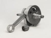 Albero motore -MAZZUCCHELLI Racing (valvola rotante)- Vespa PV125, ET3 125, PK80 S, PK125 S (cono Ø=19mm)