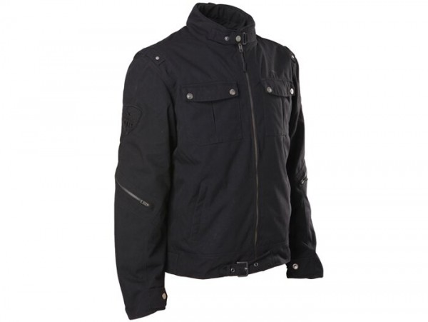 Jacket -SCEED 42 Pilots-  textile, with mambrane, black - 2XL