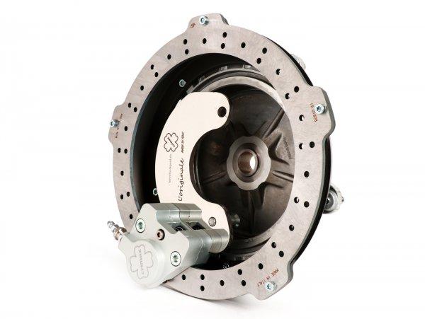 Disc brake set front -CRIMAZ Ø200mm- Vespa Rally180 (VSD1T), Rally200 (VSE1T), Sprint150 (VLB1T), TS125 (VNL3T), GT125 (VNL2T), GTR125 (VNL2T), GL150 (VLA1T)