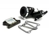 Ansaugstutzen -BGM PRO V2- Peugeot 50 ccm (vertikal) - SPEEDFIGHT1 50 cc LC, SPEEDFIGHT2 50 cc LC, XFIGHT 50, SPEEDFIGHT1 50 cc AC, SPEEDFIGHT2 50 cc AC, TKR50, TREKKER50, VIVACITY50, ELYSEO50, SQUAB50, SV50, ZENITH50, BUXY50, ELYSTAR50, L