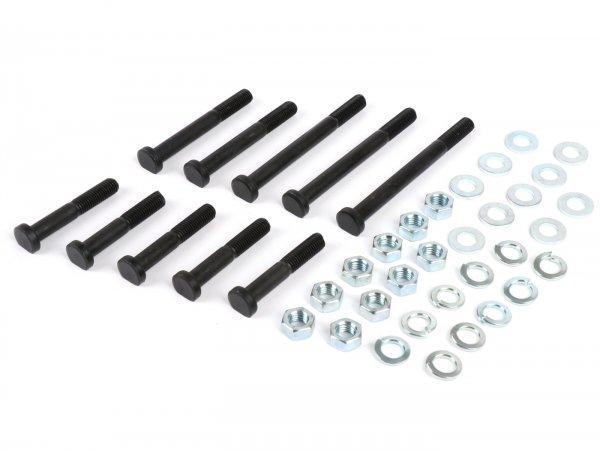 Engine casing bolt set  -BGM ORIGINAL- Vespa Smallframe V50, V90, PV125, ET3, PK S - 10 bolts
