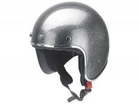 Helmet -RB-765 metal flake- grey - L (59-60cm)
