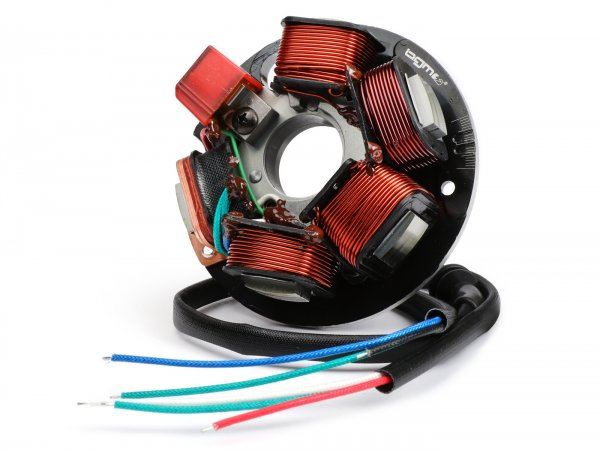 Zündung -BGM PRO Grundplatte HP V2.5 Silikon- Vespa PK XL Conversion V50/PV - 5-Spulen, 6-Kabel (lose Kabelenden) - zur Umrüstung Smallframe auf elektronische Zündung