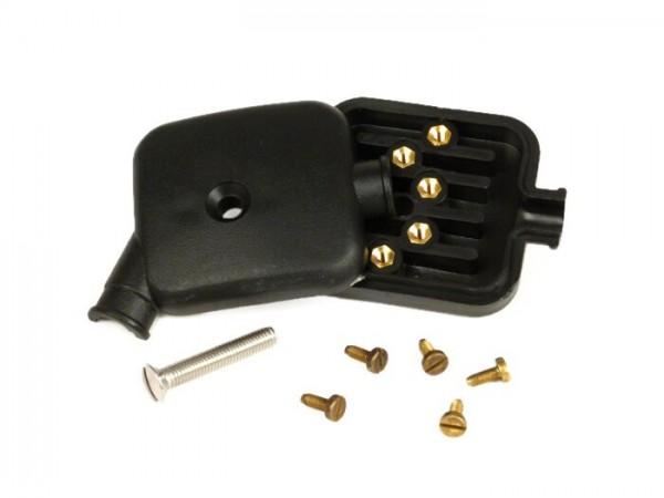 Kabelkästchen Motor -GRABOR- Vespa 50 N, 50 L, 50 R, 50 S, 50 SR, 50 SS, V90, 90 Racer, 90 SS, Vespa 100, PV125 - verschraubte Kontakte