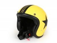 Helmet -DMD Jet Vintage- open face helmet, vintage - Star Yellow - L (59cm)